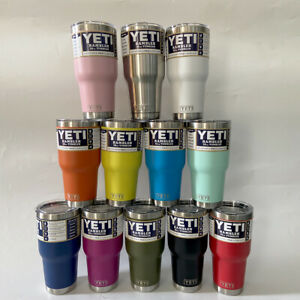 YETI 30oz Rambler Tumbler Stainless Steel Tumbler Cup with Clear Lid US Seller $22.88