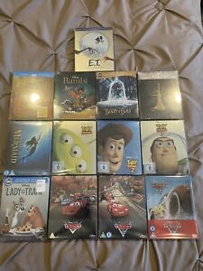 Steelbook Lot Disney Collection Sleeping Beauty Toy Story Cars ET And More $350.00