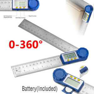 8quot; Electronic Digital Angle Finder Protractor Goniometer LED 360° w Batteries $9.99