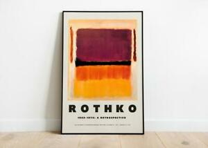 Mark Rothko Art Exhibition Poster Rothko Art Print Modern Art Wall Decor $37.99