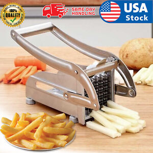 Stainless Steel French Fry Cutter Vegetable Potato Chopper Slicer Dicer 2 Blades $22.98