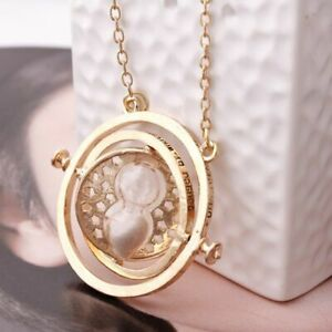 Hourglass Necklace Time Rotating Spin Luxury Famous Jewelry Fashion Love Pendant $10.99