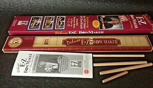 DELUXE EZ BOW MAKER WITH RIBBON SPOOL HOLDER COMPLETE w Inst Book AS SEEN ON TV $24.99