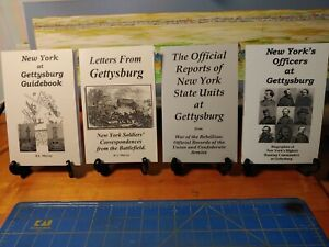 4 NEW Books Gettysburg Reference books for New York to better understand battle $35.95