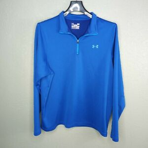 Mens Blue Underarmour Quarter Zip Quick Dry Dry fit Shirt Size Large $20.00