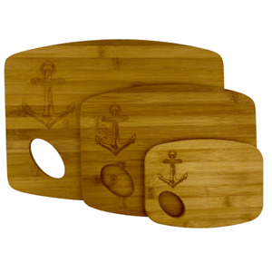 Bamboo Cutting Board Set $25.00