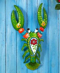 Tropical Metal Wall Sculptures Hanging Patio Fence Beach Home Décor $23.99