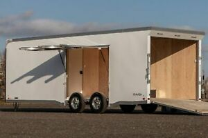 IN STOCK ATC 8.5 X 24 Enclosed Aluminum Raven Carhauler Trailer w Escape Door