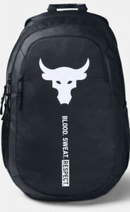 NWT Under Armour Project Rock Brahma Backpack Black Color Unisex 1359284 001 $59.99