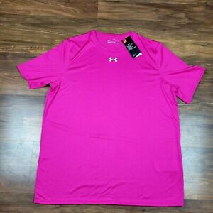 Under Armour Mens Shirts Size Large Loose Heat Gear Pink NWT $19.95