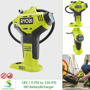 RYOBI 18V High Pressure Inflator for Tires w Digital Gauge Cordless Tool Only