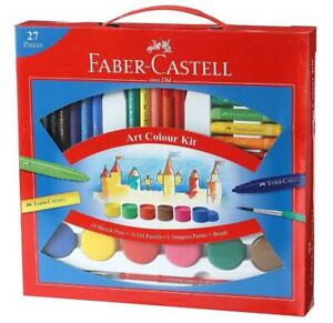 Low Cost Kit with 27 unit Faber Castell Art Color Kit Paint Brush Student school $16.00