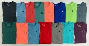Mens Under Armour Heat Gear The Tech Tee Heather Polyester Shirt $19.99