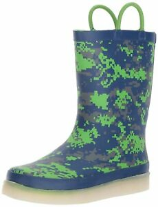 Kids Western Chief Girls LED Rainboot Rubber Mid Calf Digital Camo Size 12.0 C $27.60