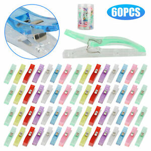 60x Plastic Sewing Wonder Clips Clamp for Craft Quilting Frabic Knitting Crochet $15.48