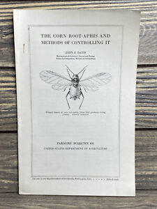 Vintage Farmers Bulletin US Dept of Agriculture No 891 Corn Root Aphis 1917 $16.24