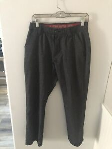 UA Under Armour Golf Pants Mens 30x30 Loose Flat Front Stretch Heather Gray EUC $14.00