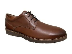 Clarks Oxfords 16501 Collection by Clarks Brown Leather Lace Up Shoes 11.5M $59.95