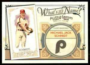 2012 Topps Allen Ginter Whats In A Name Michael Jack Schmidt #WIN50 $1.75