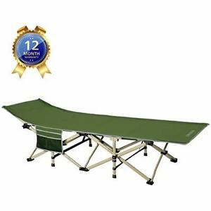 Camping cots Oversized Portable Foldable Outdoor Bed with Carry ARMY GREEN