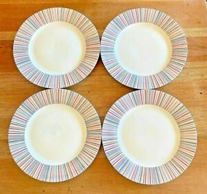 Laura Ashley Kaleidoscope 4 Dinner Plates 5978261 Discontinued FAST SHIP