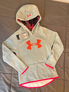 New with Tags Under Armour Hoodie Girls size XS Color Grey and Orange. $18.00