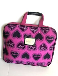 BETSEY JOHNSON pink with hearts computer case