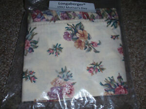 Longaberger Liner MOTHER#x27;S DAY Fabric For The quot;1992 MOTHER#x27;S DAYquot; Basket NEW $21.95