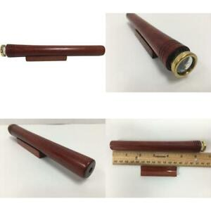 N And J Kaleidoscope In Solid Padauk Wood 6 Inch Barrel 3 Mirror System Beade