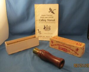 Vintage HERTERS VIT GLODO TYPE DUCK CALL No.279 in original box amp; Manual
