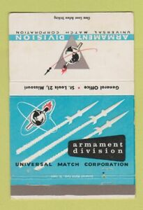 Matchbook Cover Armament Division Universal Match St Louis MO 40 Strike $3.99