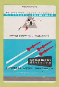 Matchbook Cover Armament Division Universal Match Corp St Louis MO 40 Strike $3.99