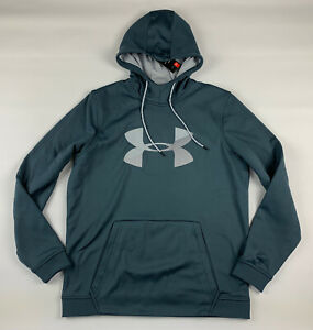 Under Armour Hoodie Mens L Loose ColdGear Gray Logo Long Sleeve New $32.84