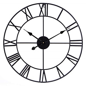 Infinity Time Co Metal Round Shaped Oversized Antique Industrial Iron Skeleton $65.35
