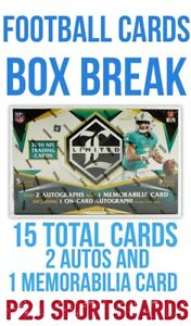 2020 PANINI LIMITED FOOTBALL CARD HOBBY Box BREAK 1 RANDOM TEAM NFL Break 4495 $21.00