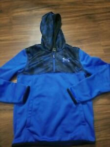 UNDER ARMOUR HOODIE BOYS YOUTH LARGE BLUE EUC $17.99