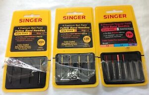 9 Singer sewing needles Red amp; Yellow band $6.96