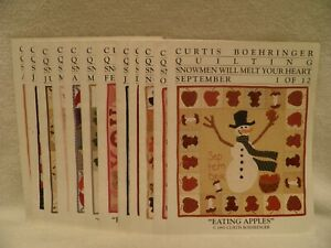 Curtis Boehringer Quilting Square Pattern Snowmen Will Melt Your Heart Lot of 12 $55.49