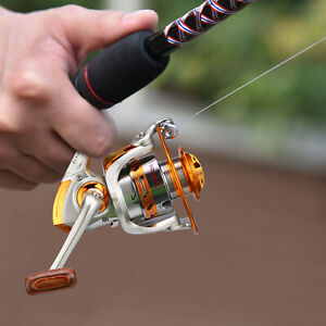 12BB Powerful Spinning Fishing Reels Metal Body Left Right Interchangeable 4000