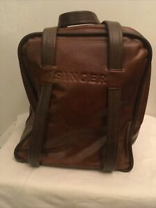 Singer Leather Two Strap Brown Carrying Bag $35.00