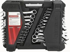CRAFTSMAN 52 pc 12 point COMBO WRENCH SET INCH and METRIC WITH CASE 9 12066 NEW