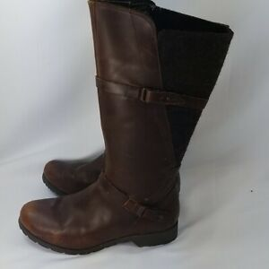 TEVA Delavina brown leather Wool Boots 8.5 $79.99