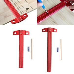 Measuring Scribe T Ruler Metric Aluminum Alloy Crossed out Hole Scribing Tools $44.48
