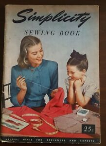 Vintage 1949 Simplicity Sewing Sewing Book SC 88 Pages $10.00