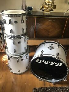 Vintage Drum Ludwig Power Rockers Original White 12131622 Missing Legs $500.00