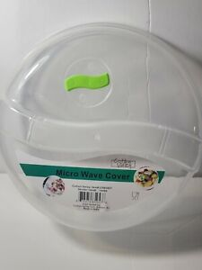 Plastic Microwave Plate Cover Clear Steam Vent Splatter Lid 10.25 Food Dish New