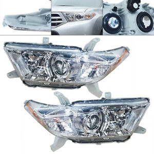 Pair of Headlights Left amp; Right Projector Lamps for 2011 2013 TOYOTA Highlander $110.00