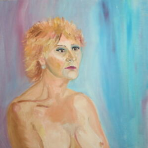 EXPRESSIONISM NUDE WOMAN OIL PAINTING $250.00