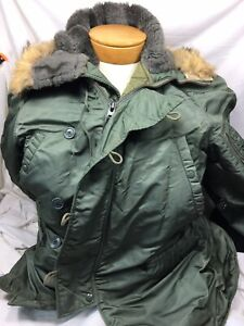 Vintage Army Air Force Extreme Cold Weather Parka Fur Hooded Jacket N 3B Mens $118.97