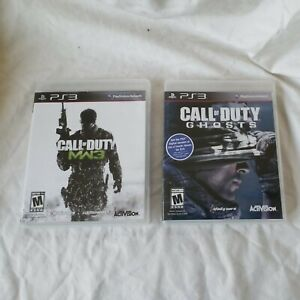 Call of Duty ps3 games Lot of 2 Call Duty GHOST and Call OF Duty MW3 EUC $11.99